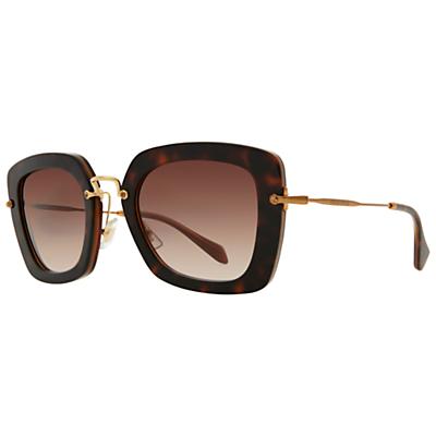 Miu Miu MU07OS Oversize Square Frame Sunglasses, Tortoise
