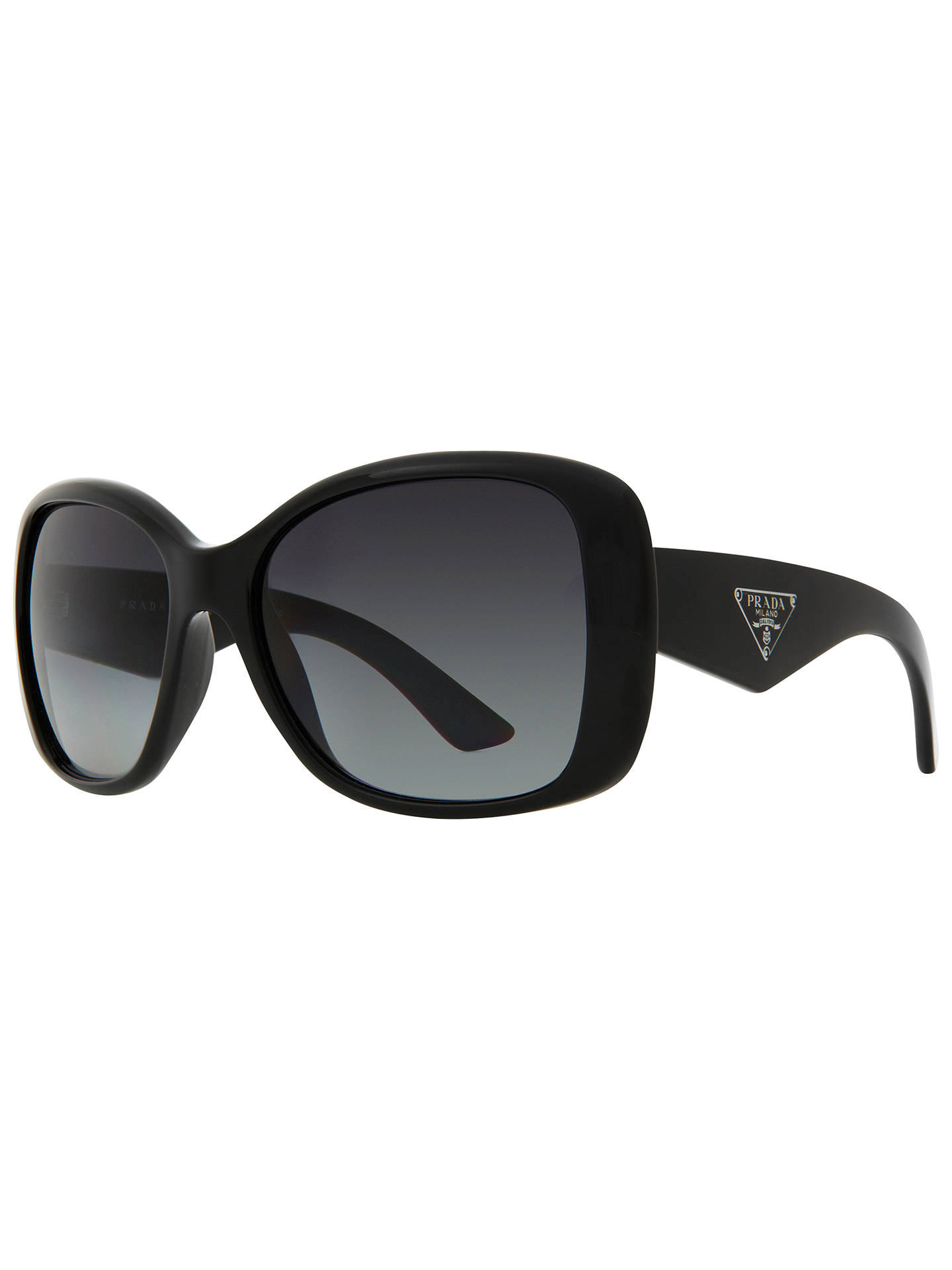 4af3421aab4 BuyPrada PR32PS Oversized Square Frame Polarised Sunglasses