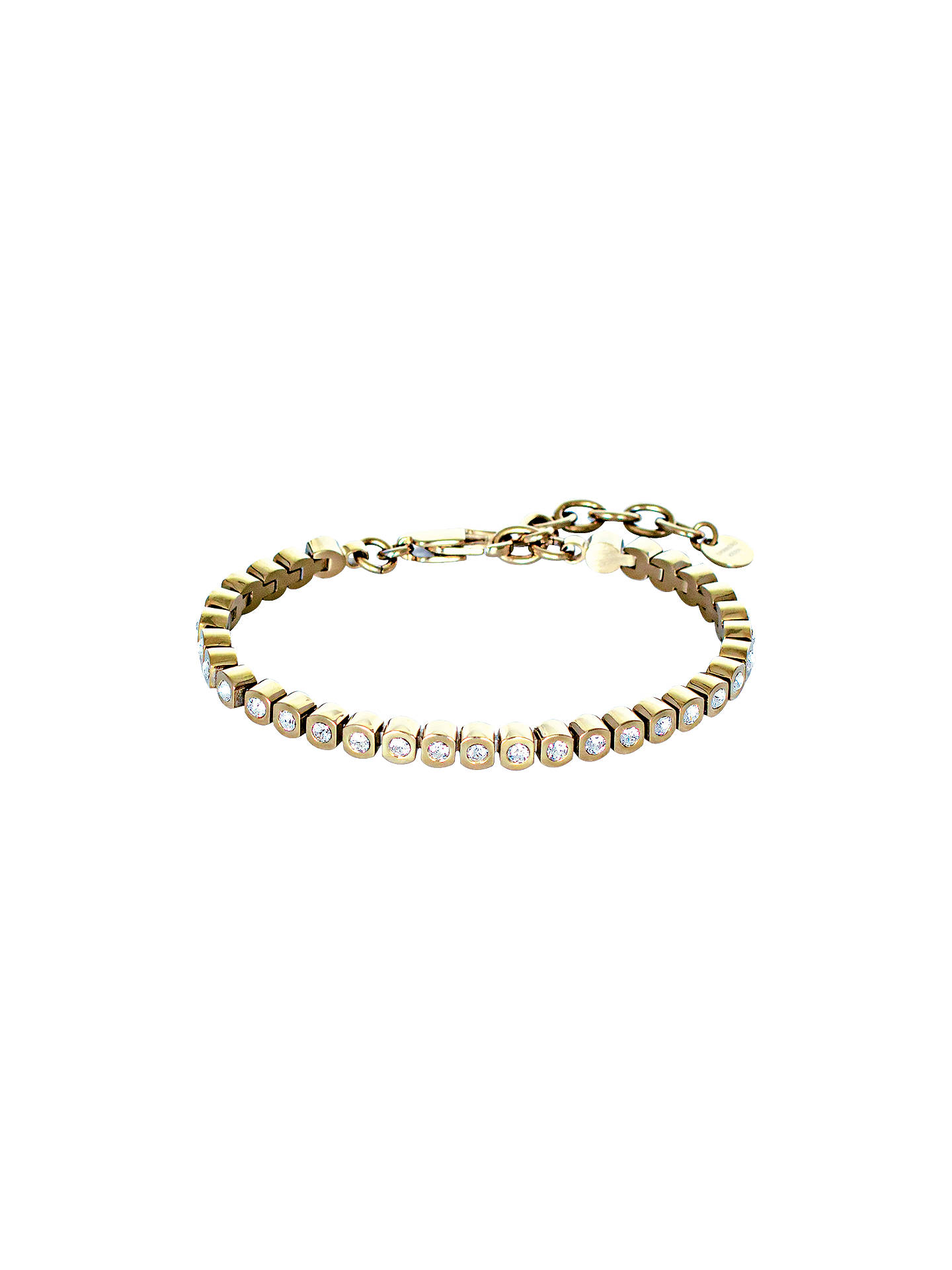 87527fdd Buy DYRBERG/KERN Cony Swarovski Crystal Tennis Bracelet, Gold Online at  johnlewis.com ...