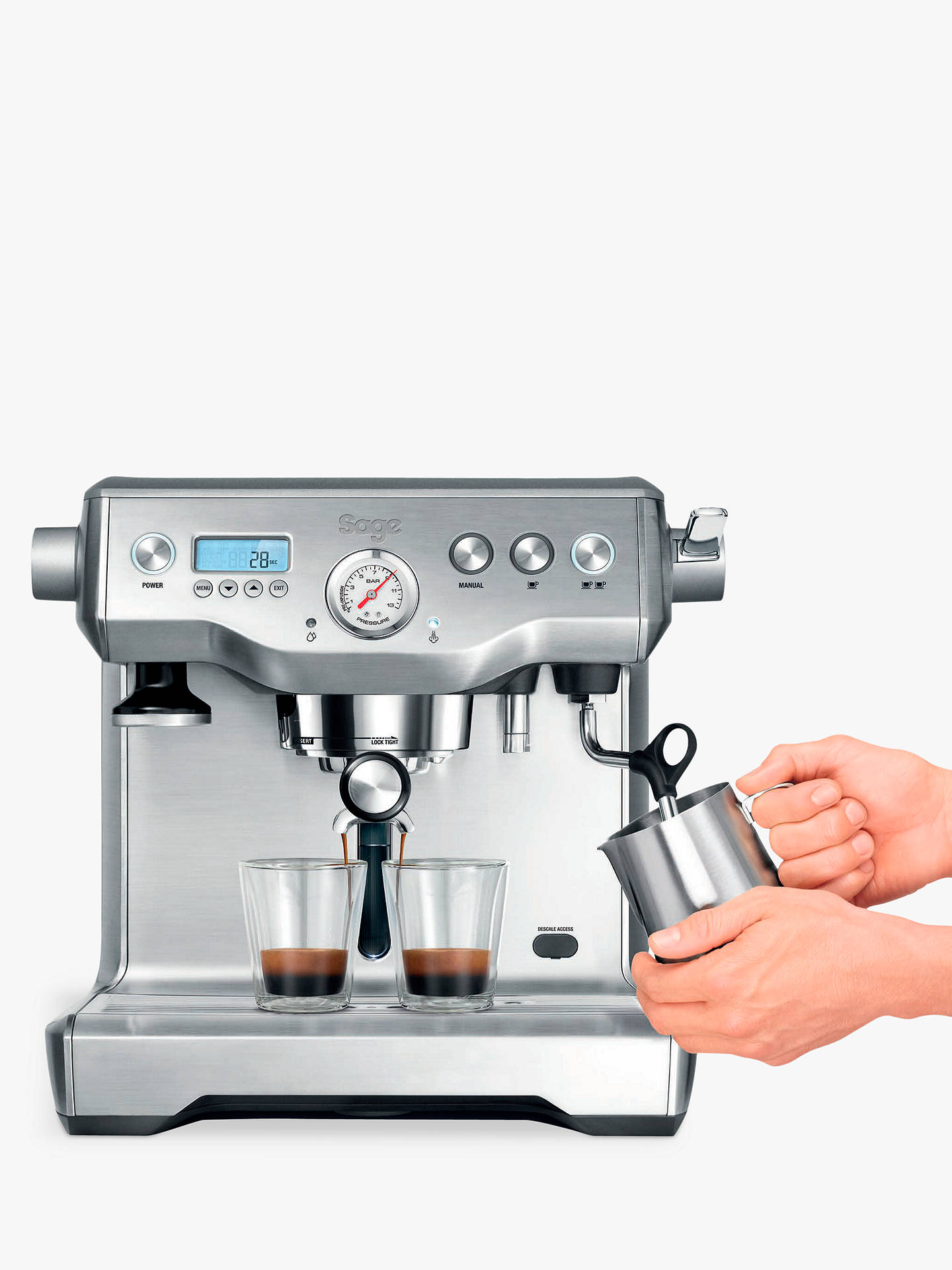 BuySage the Dual Boiler™ Espresso Coffee Machine, Silver Online at johnlewis.com