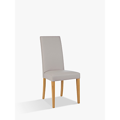 John Lewis Lydia Leather Effect Dining Chair, FSC-Certified (Beech)