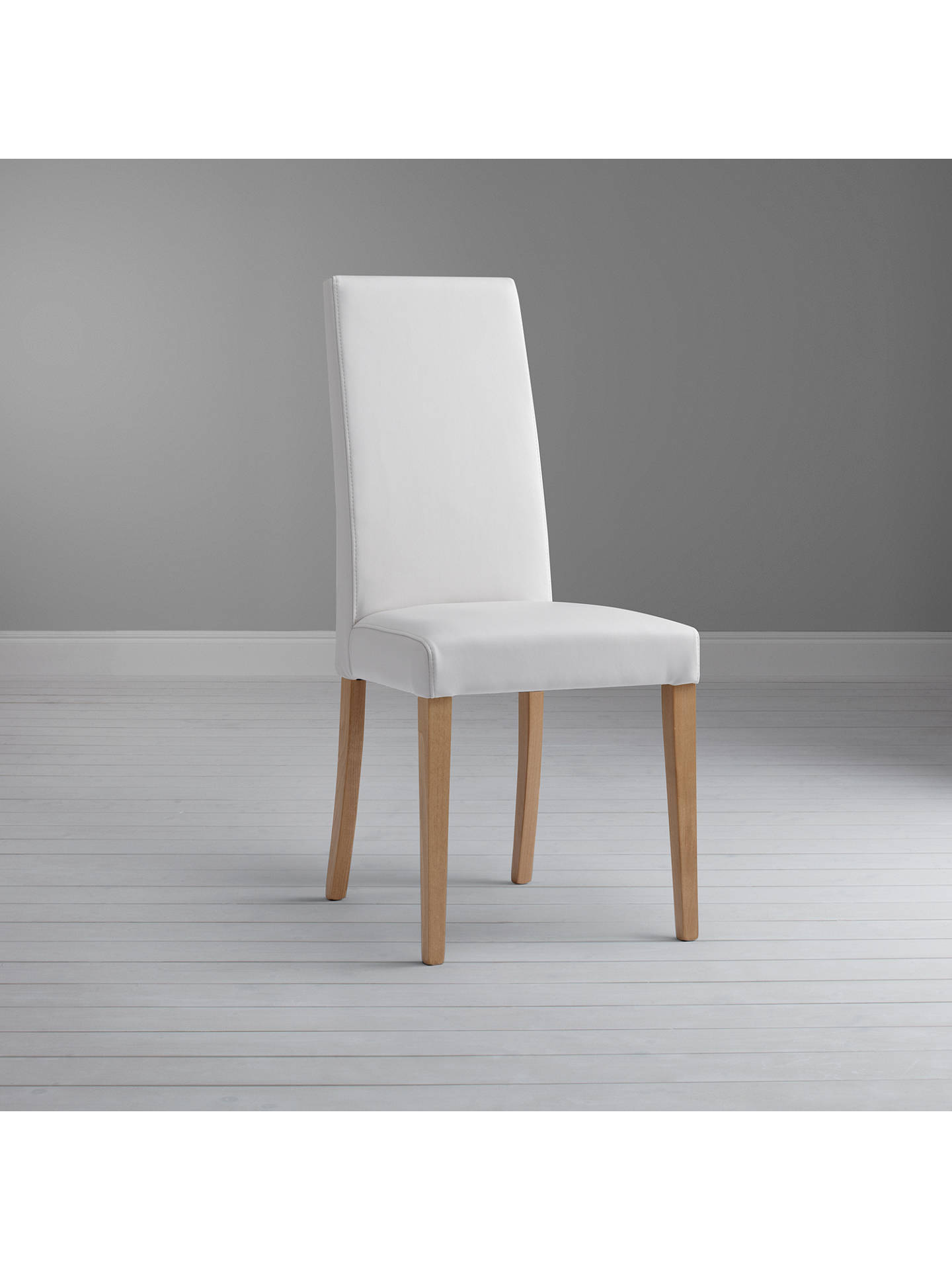 Buy John Lewis & Partners Lydia Leather Effect Dining Chair, FSC-Certified (Beech), Chalk Online at johnlewis.com
