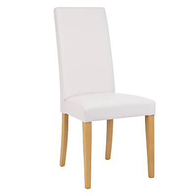 John Lewis & Partners Lydia Leather Effect Dining Chair, FSC-Certified (Beech)