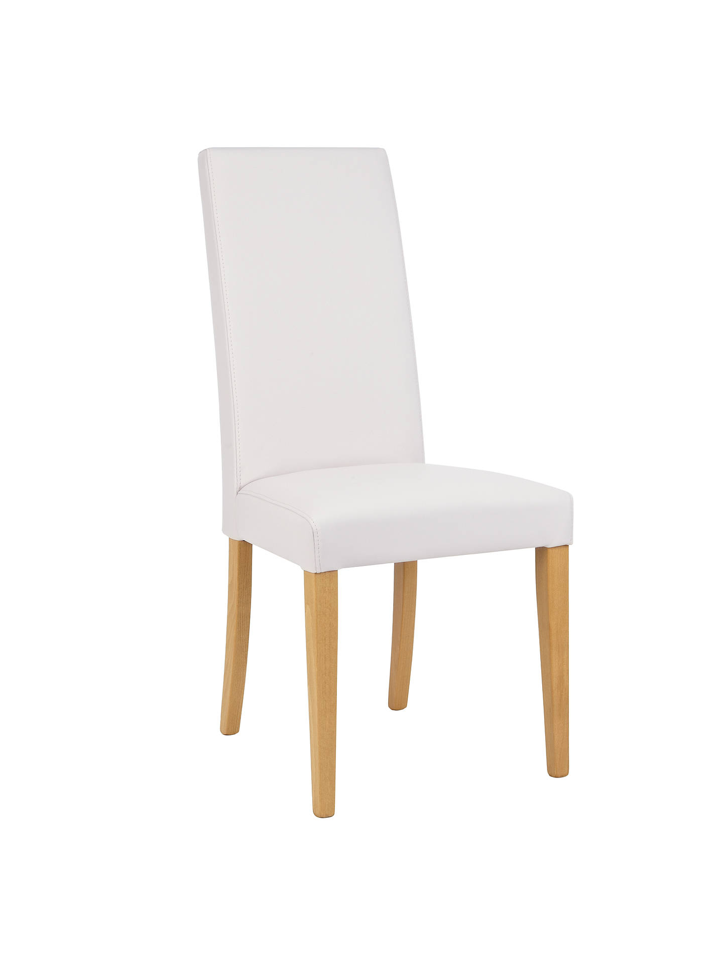Awesome John Lewis Partners Lydia Leather Effect Dining Chair Fsc Certified Beech Chalk Gamerscity Chair Design For Home Gamerscityorg