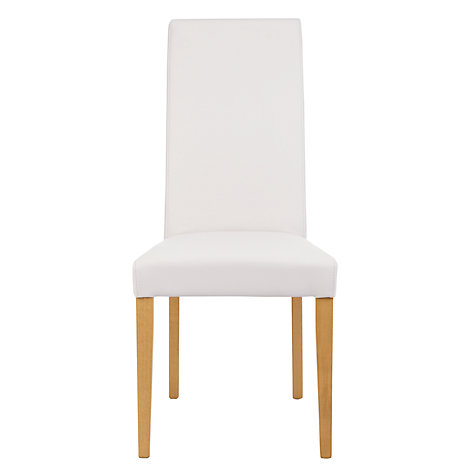 Buy John Lewis Lydia Leather Effect Dining Chair, FSC-Certified (Beech) Online at johnlewis.com
