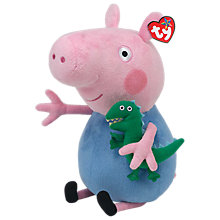 Buy Ty Peppa Pig George and Buddy Beanie Baby, 33cm Online at johnlewis.com