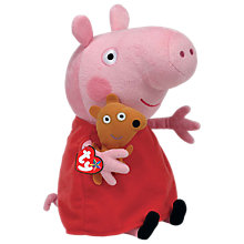 Buy Ty Peppa Pig Buddy Beanie Baby, 33cm Online at johnlewis.com