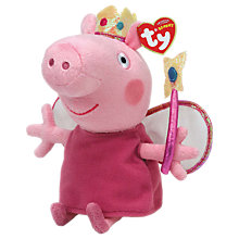 Buy Ty Peppa Pig Princess Beanie Baby, 15cm Online at johnlewis.com