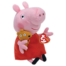 Buy Ty Peppa Pig Beanie Baby, 15cm Online at johnlewis.com