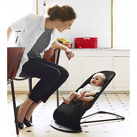 Buy BabyBjörn Bouncer Balance Soft, Black/Grey Online at johnlewis.com