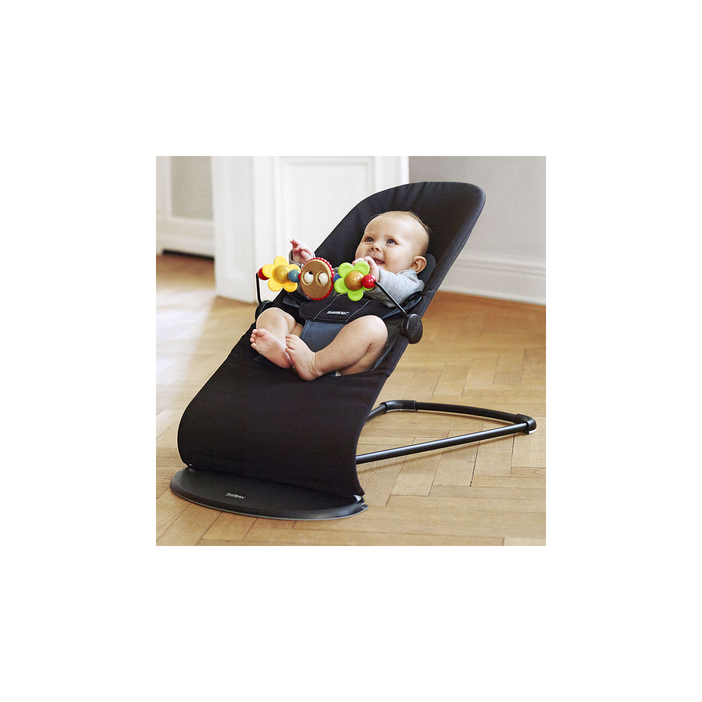 BuyBabyBjörn Bouncer Balance Soft, Black/Grey Online at johnlewis.com