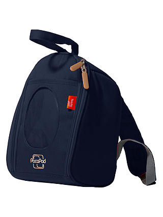 Luxury Baby and Toddler Cool Bag with Backpack Straps PacaPod Designer Navy Blue Feeder Pod