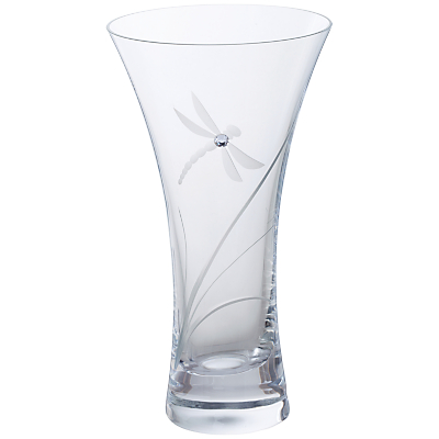 Dartington Crystal Dragonfly Vase, Small