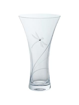 Dartington Crystal Dragonfly Vase, Large