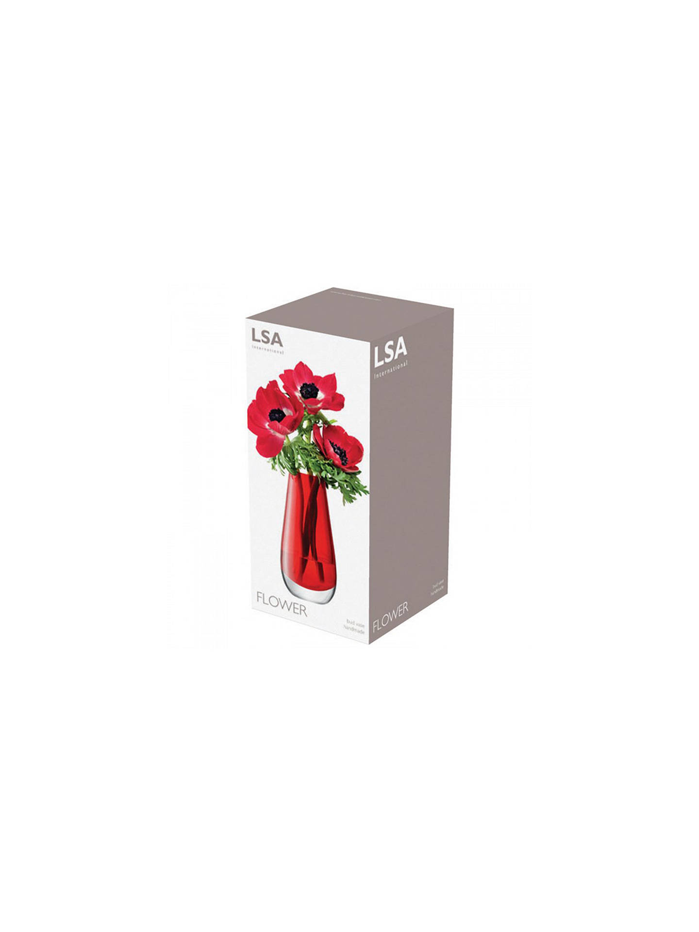 Buy LSA International Flower Colour Bud Vase, Red Online at johnlewis.com