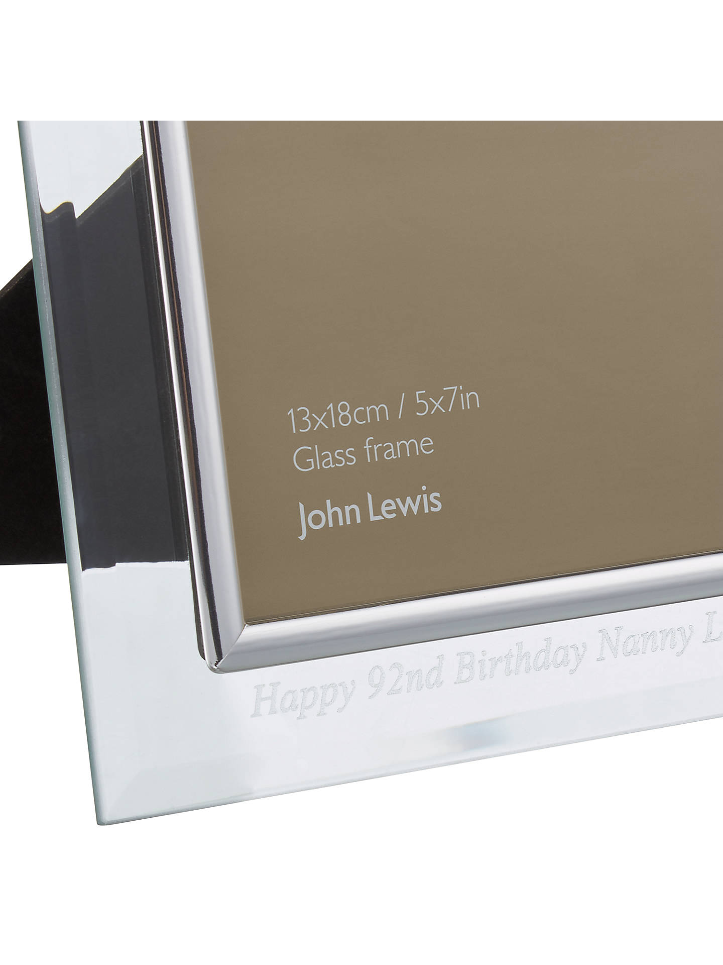 Intervino Personalised Engraved Glass Border Photo Frame 5 X 7 13
