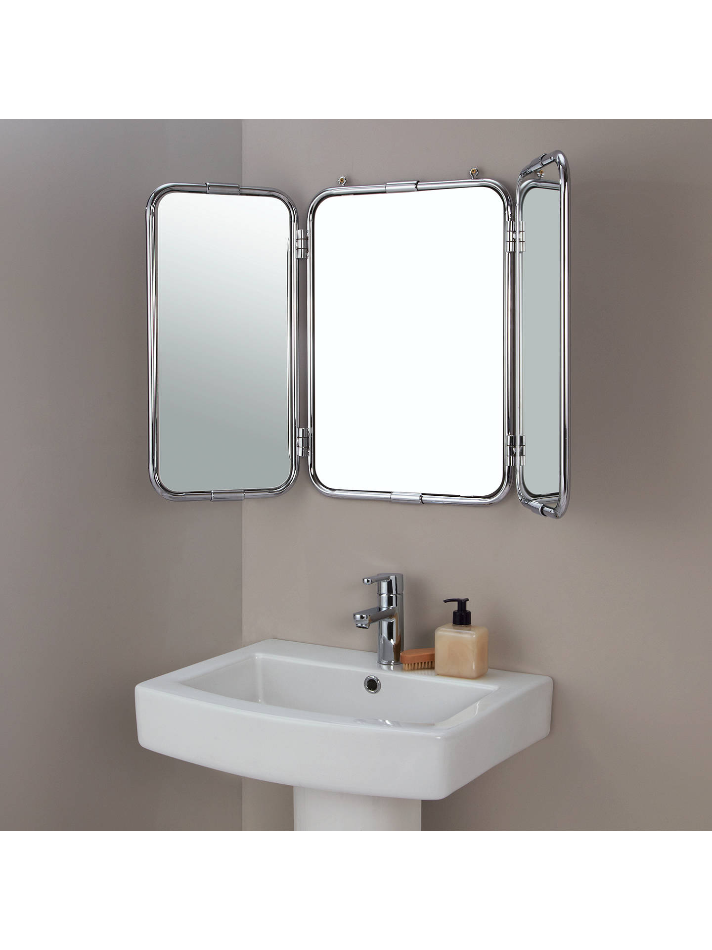 john lewis restoration triple bathroom wall mirror at john. Black Bedroom Furniture Sets. Home Design Ideas