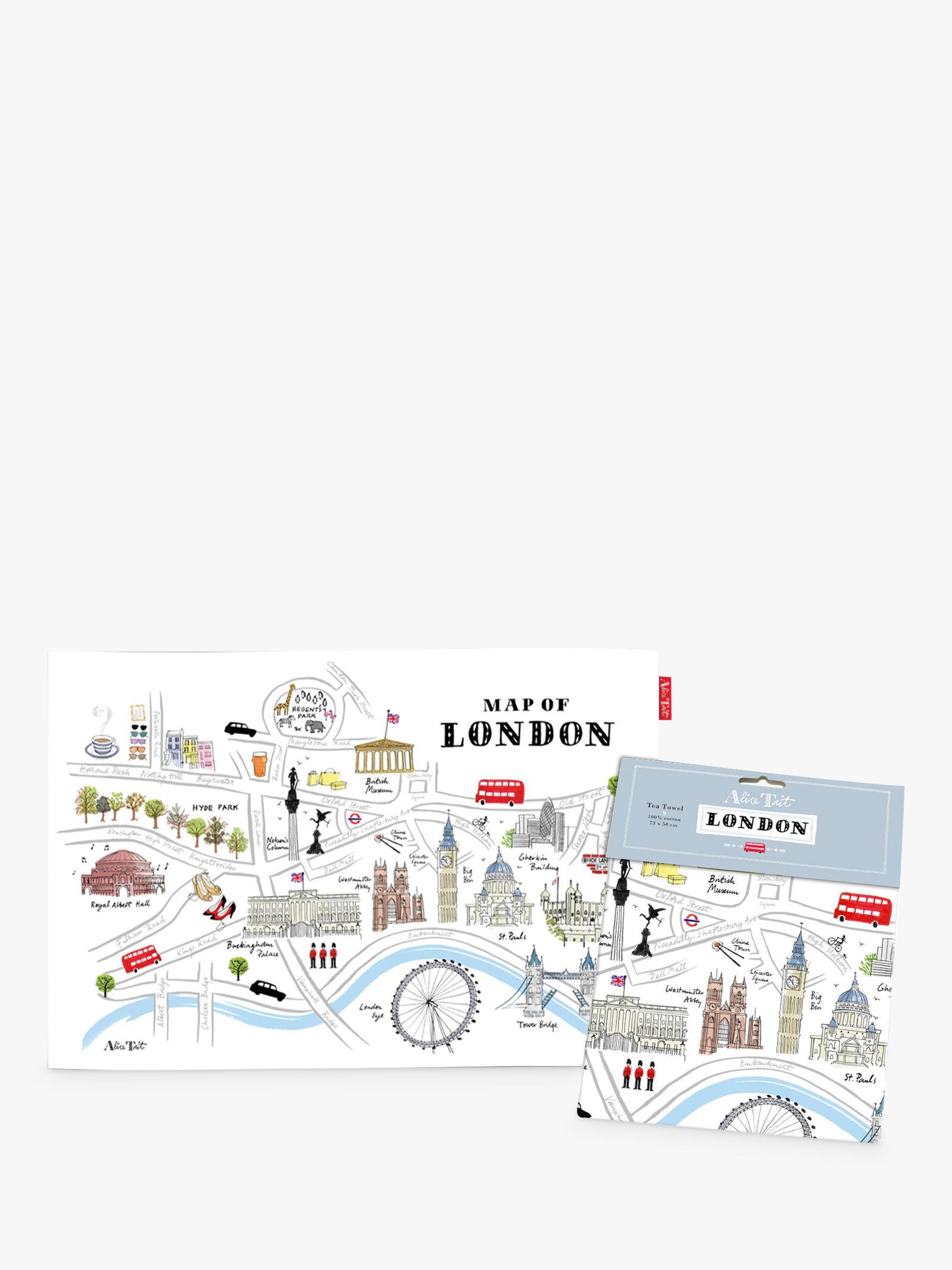 Alice Tait Alice Tait Map of London Tea Towel