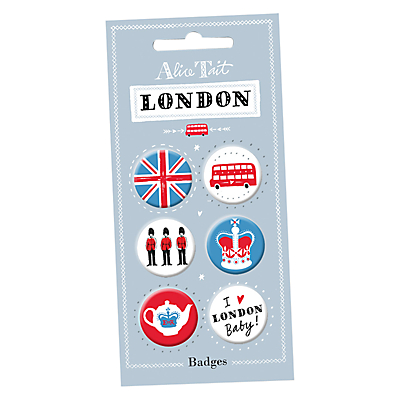 Alice Tait London Badges, Set of 6