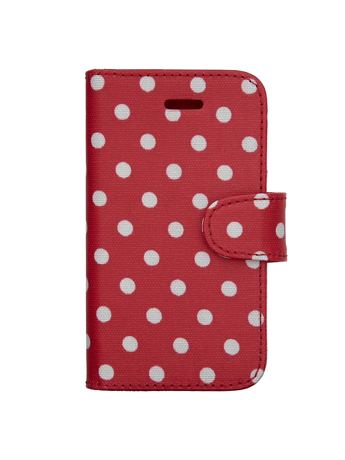 premium selection b3df0 7c55d Cath Kidston Spotted Print iPhone 5 Case, Cranberry at John Lewis ...