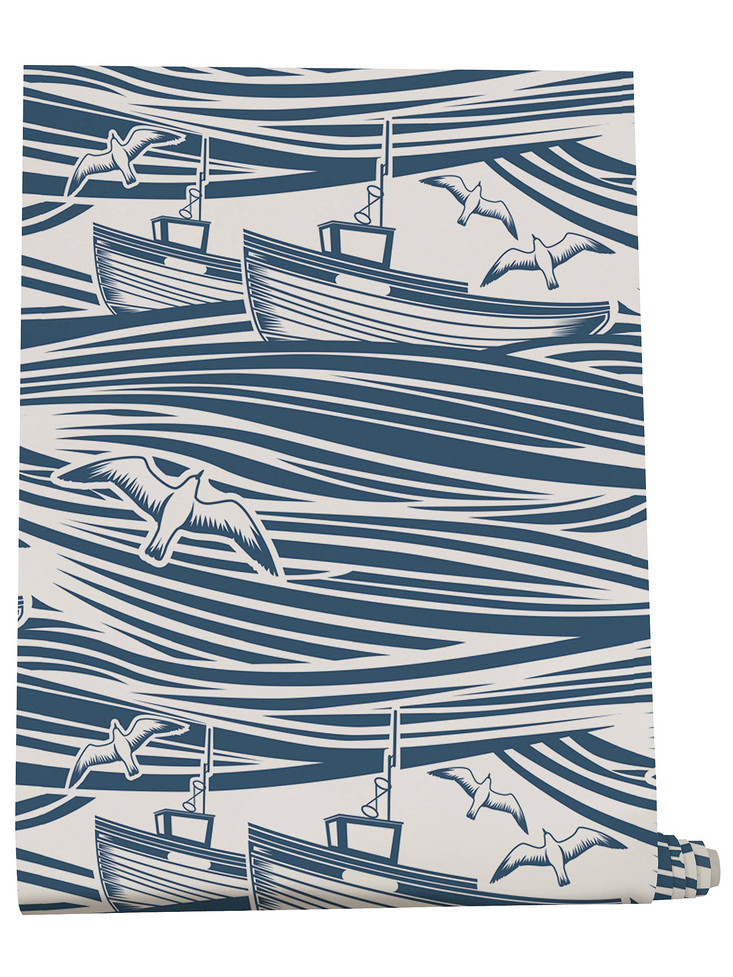 Buy Mini Moderns Whitby Wallpaper, Washed Denim Online at johnlewis.com ...