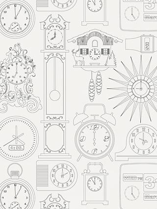 Mini Moderns Tick Tock Wallpaper