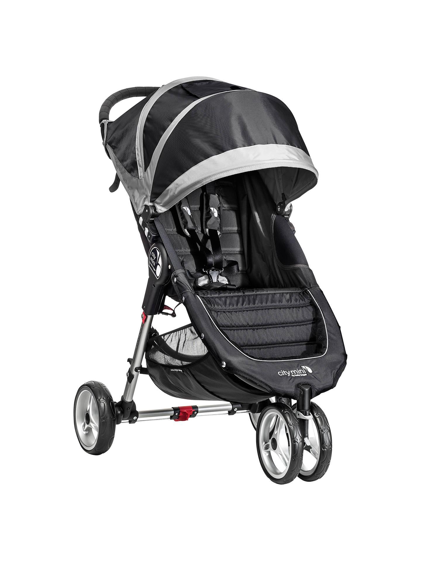 Baby Jogger City Mini 3 Wheel Pushchair Black Grey At