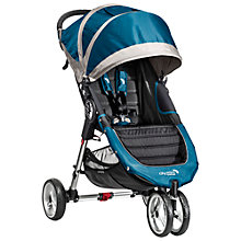 Buy Baby Jogger City Mini 3 Wheel Pushchair, Teal/Grey Online at johnlewis.com