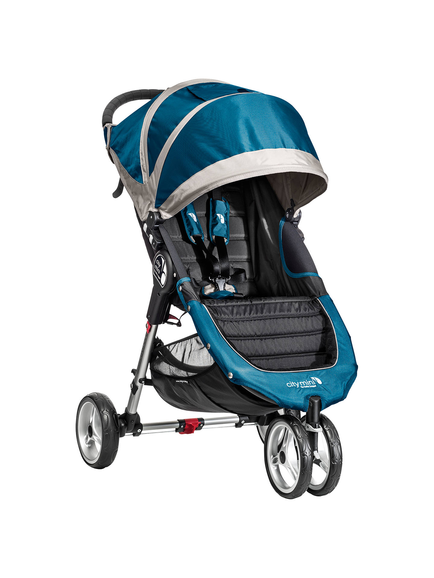 Baby Jogger City Mini 3 Wheel Pushchair Teal Grey