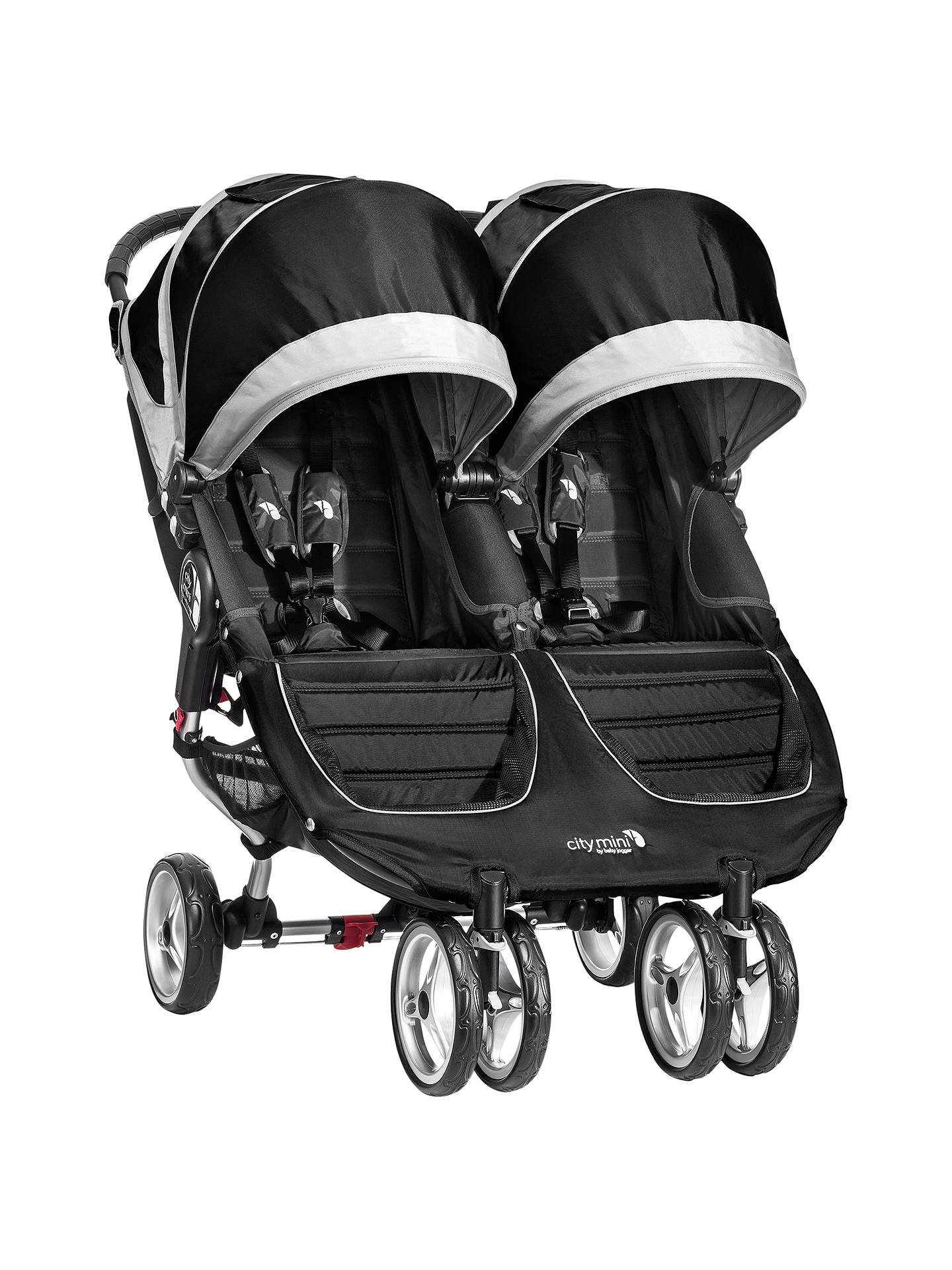 Baby Jogger City Mini Twin Pushchair Black Grey At John