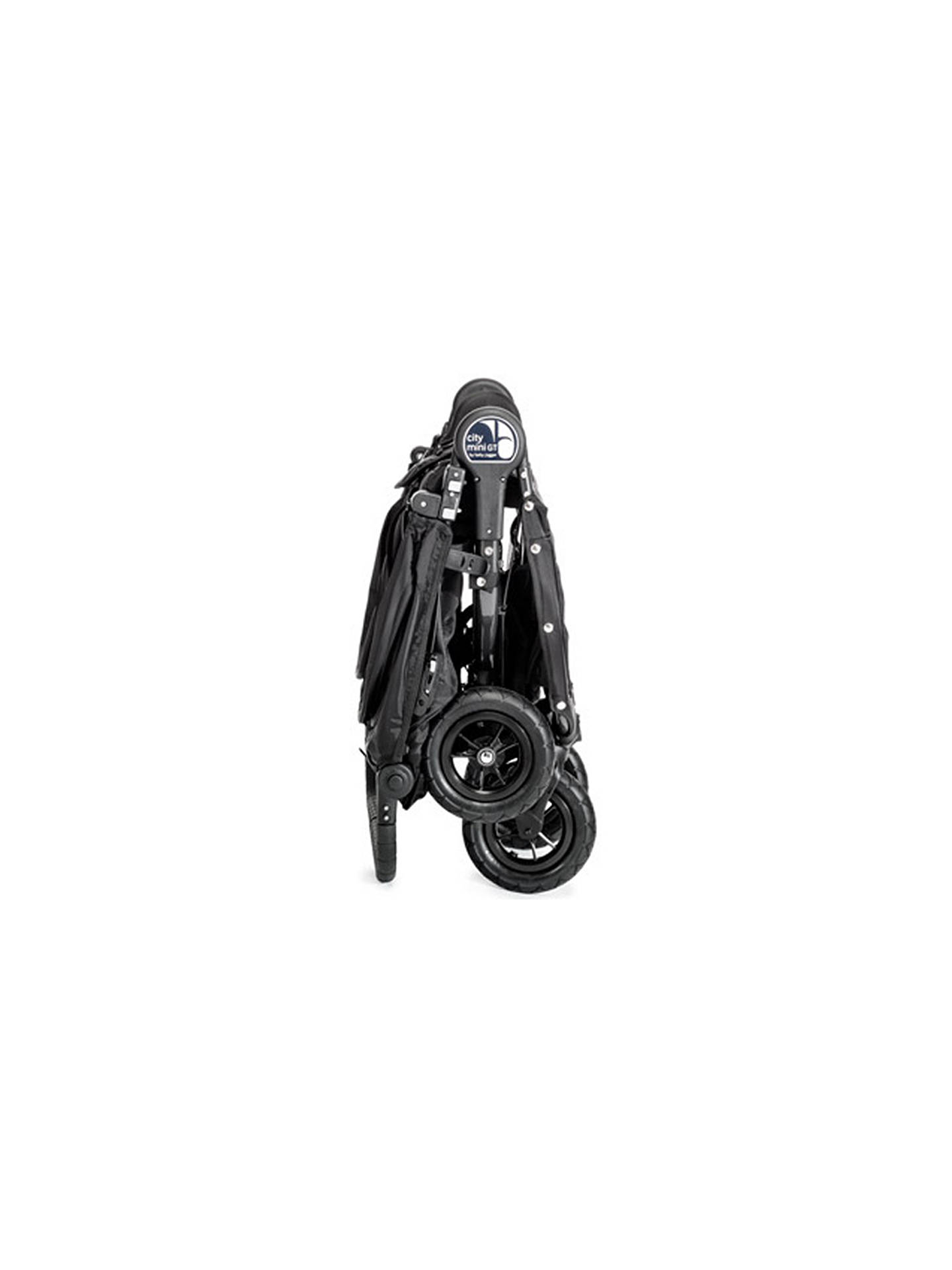 BuyBaby Jogger City Mini Twin Pushchair, Black/Grey Online at johnlewis.com