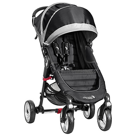Buy Baby Jogger City Mini 4-Wheel Pushchair, Black/Grey Online at johnlewis.com