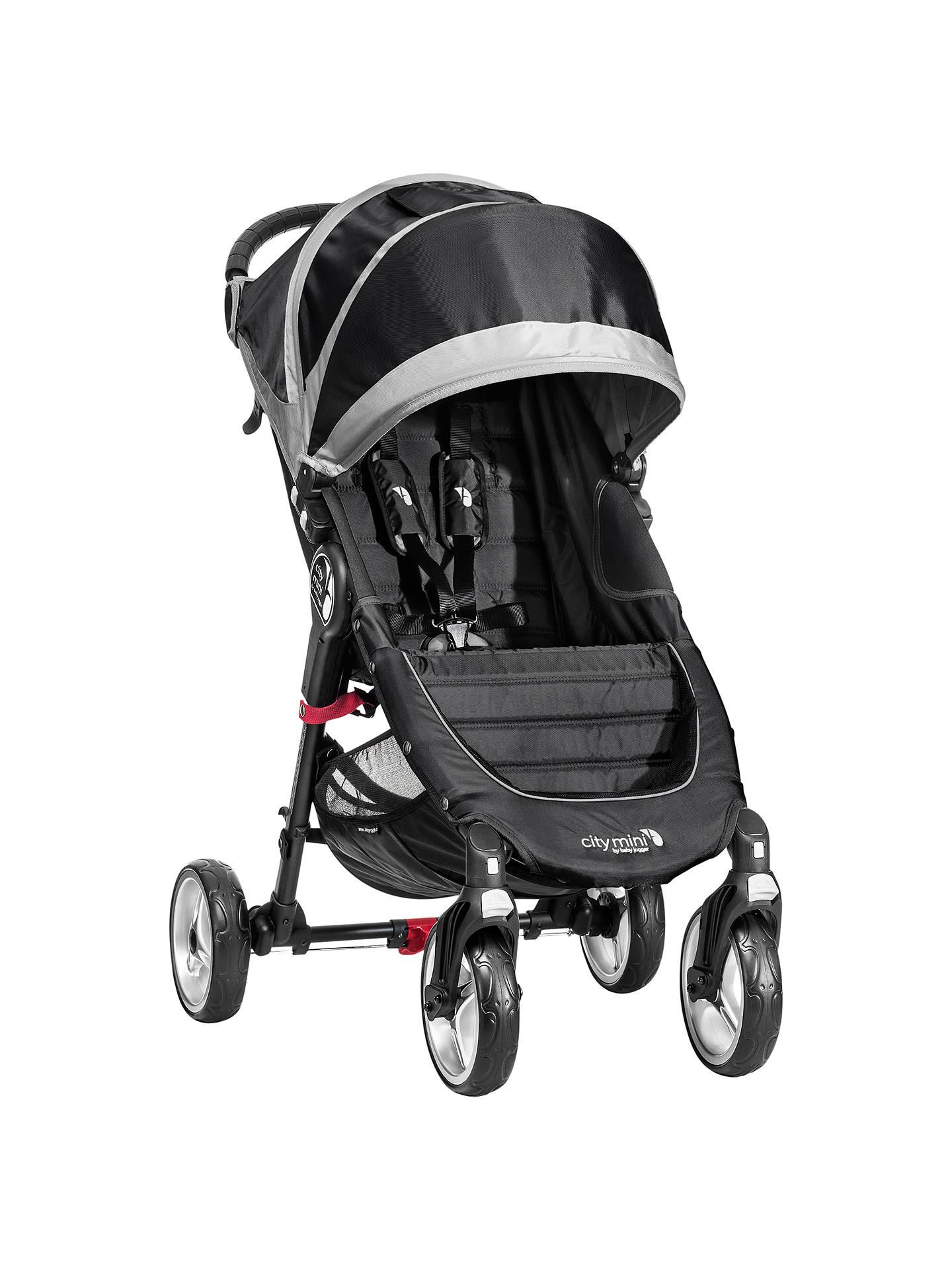 Baby Jogger City Mini 4 Wheel Pushchair Black Grey At