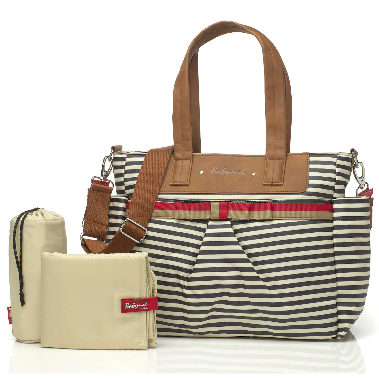 BuyBabymel Cara Changing Bag, Navy Stripe Online at johnlewis.com