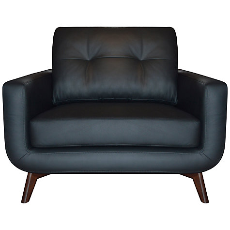 Buy John Lewis Barbican II Leather Snuggler with Dark Legs, Madras Black Online at johnlewis.com