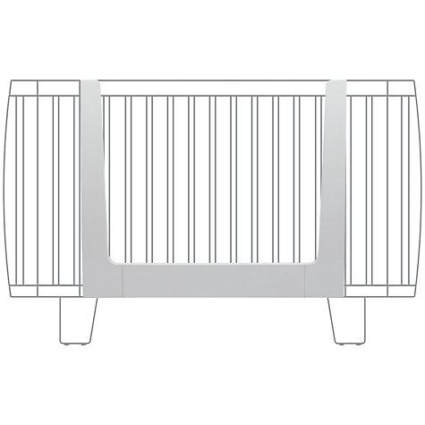 Buy bloom Retro Bed Rail, White Coconut Online at johnlewis.com