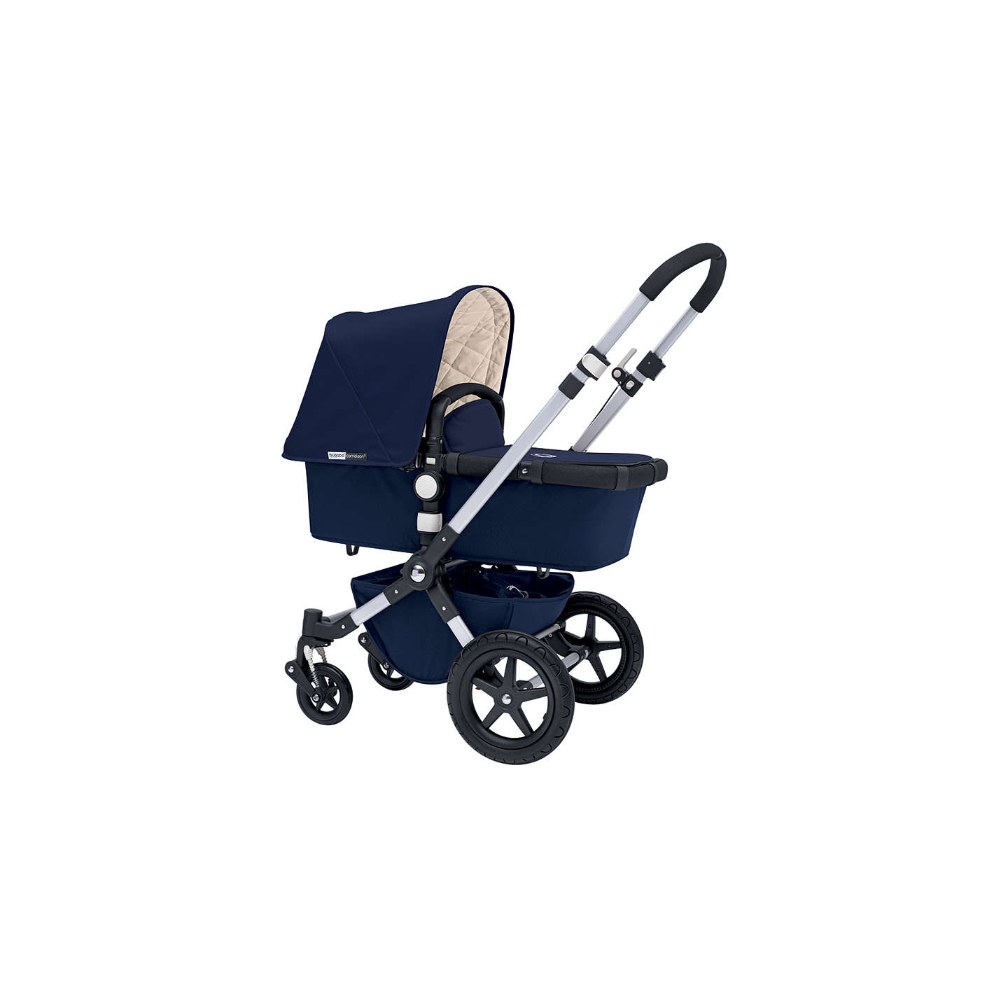 BuyBugaboo Cameleon3 Pram Base with Classic Navy Fabric Online at johnlewis.com