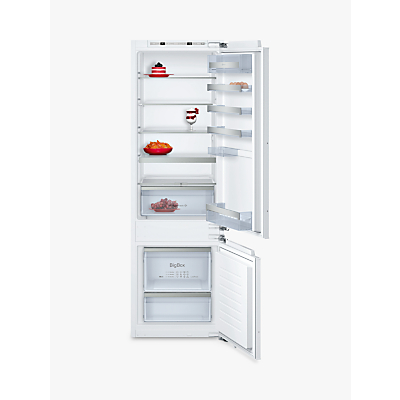 Image of NEFF KI6873F30G 56cm Wide 70-30 Integrated Upright Fridge Freezer - White