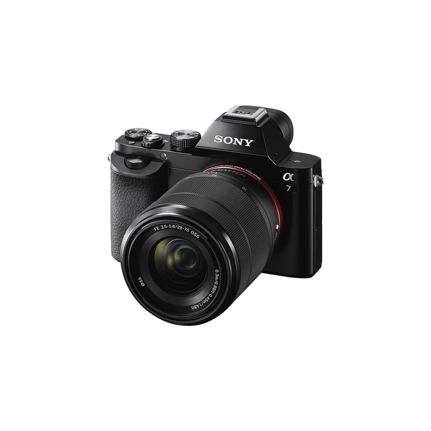 "BuySony Alpha A7 (ILCE-7K) Compact System Camera with 28-70mm Lens, HD 1080p, 24.3MP, Wi-Fi, NFC, OLED EVF, 3"" Screen Online at johnlewis.com"