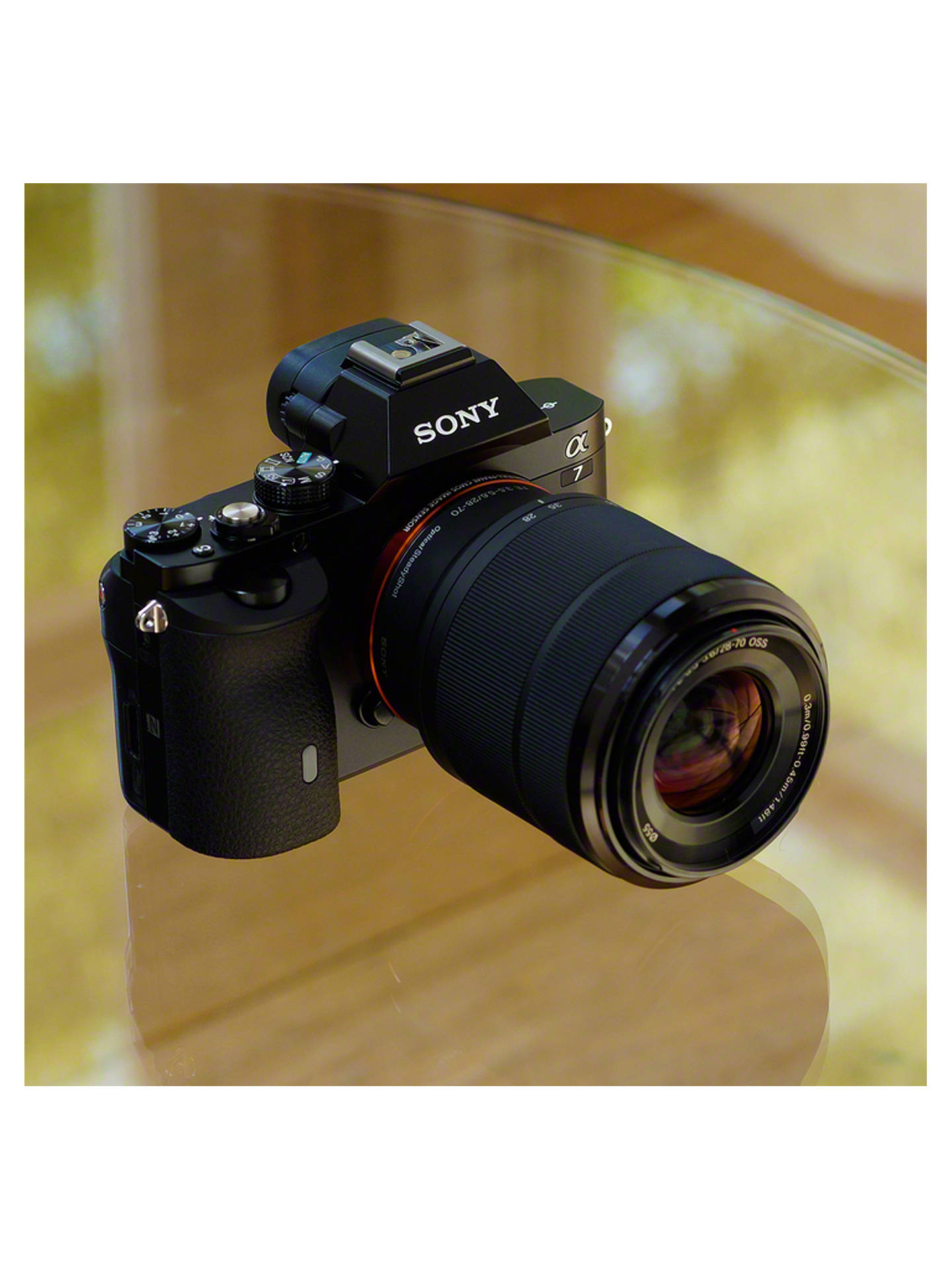 """Sony a7 (Alpha ILCE-7K) Compact System Camera with 28-70mm Lens, HD 1080p,  24 3MP, Wi-Fi, NFC, OLED EVF, 3"""" Screen"""