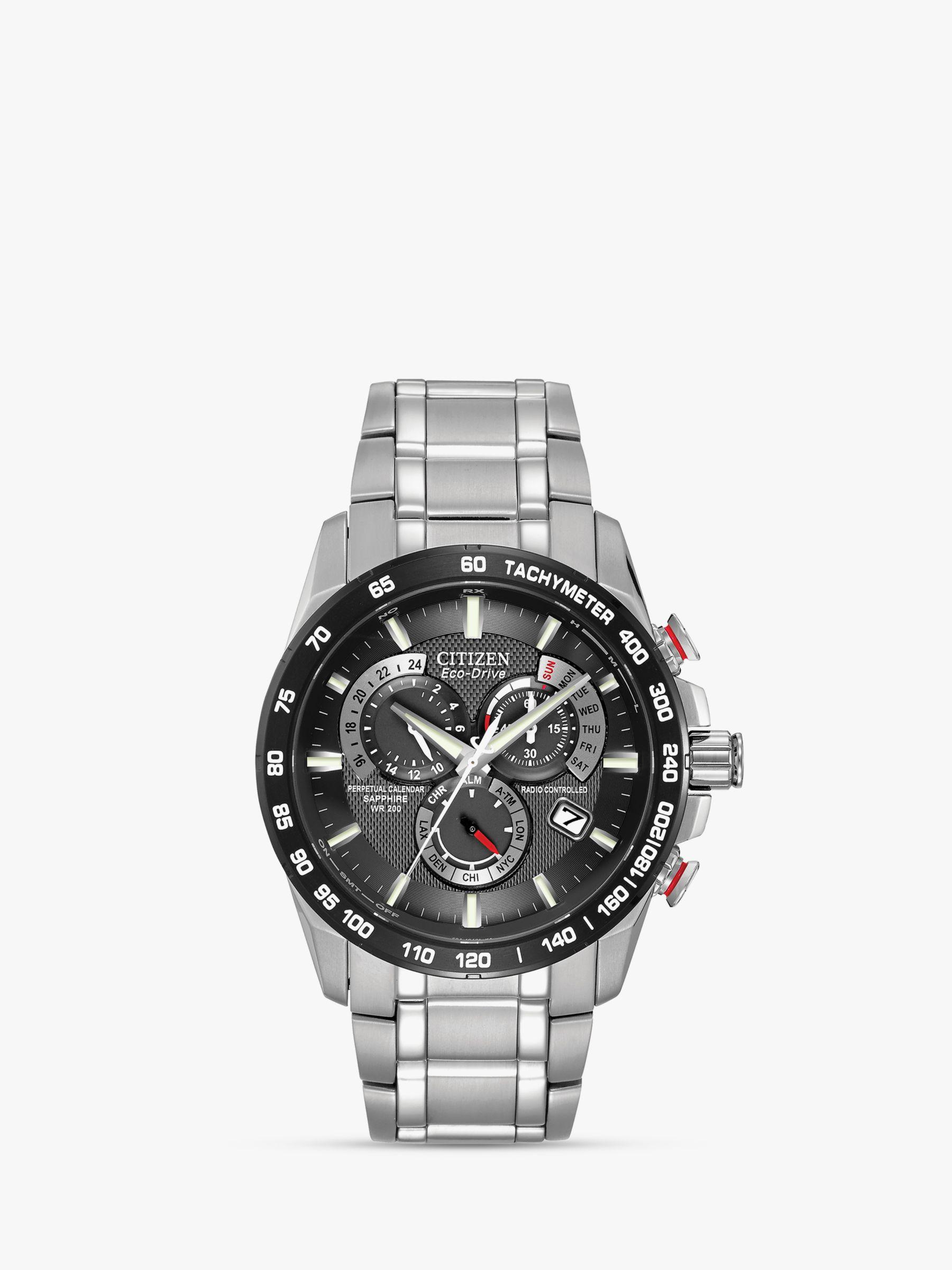 a1e4aefbcfd0a Citizen AT4008-51E Men s Eco-Drive Perpetual Calendar Chronograph Bracelet  Strap Watch