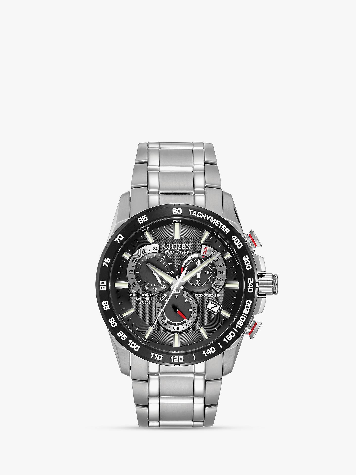 37d937d86 Buy Citizen AT4008-51E Men's Eco-Drive Perpetual Calendar Chronograph  Bracelet Strap Watch, ...