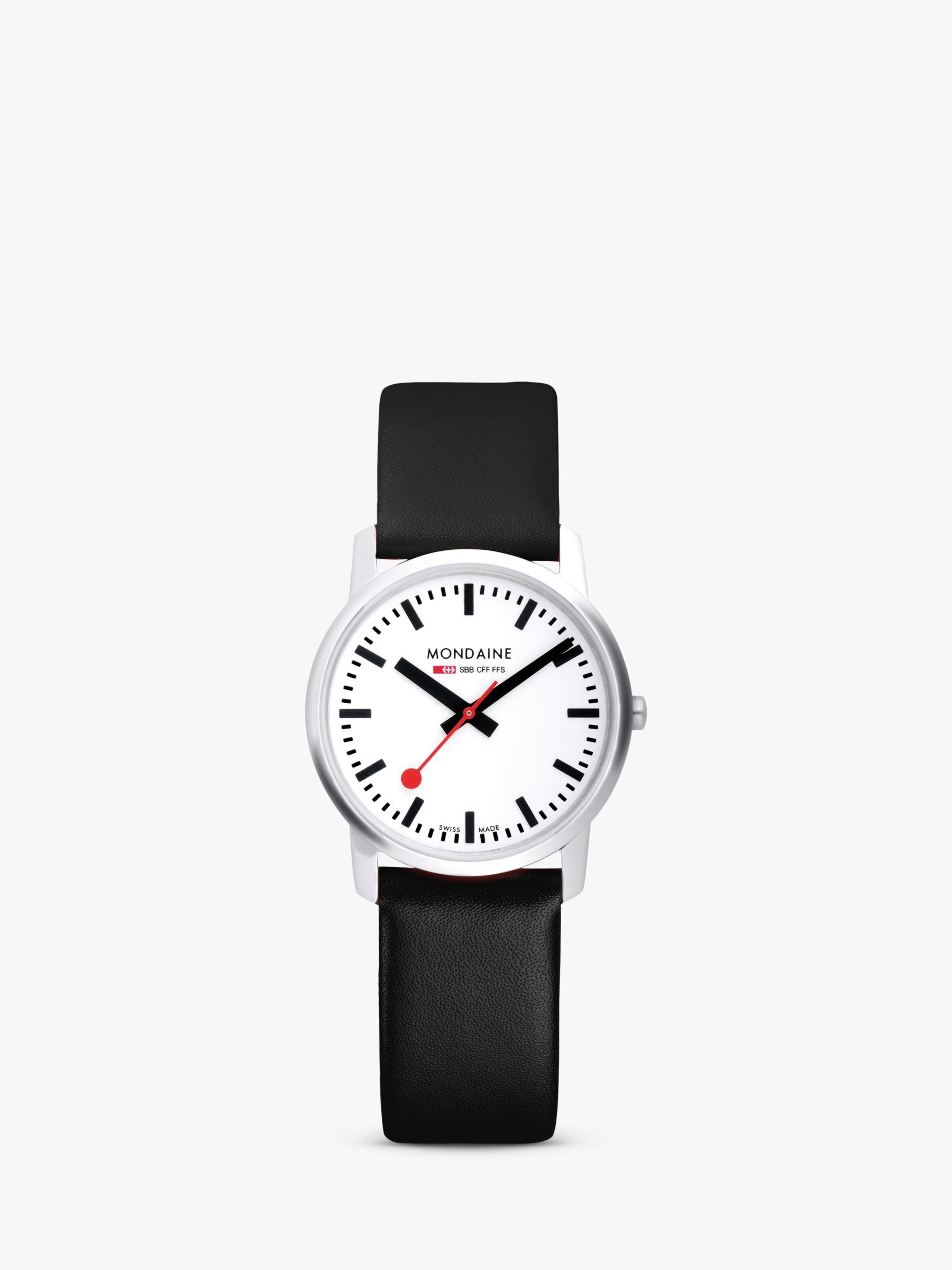 Mondaine Mondaine Unisex Simply Elegant Leather Strap Watch