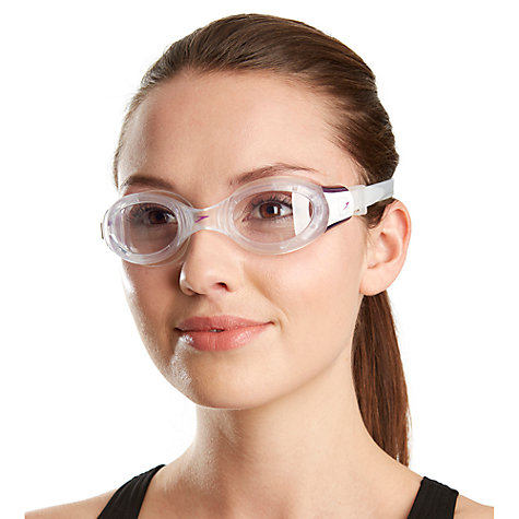 Buy Speedo Women's Futura Biofuse Swimming Goggles, Clear/Purple Online at johnlewis.com