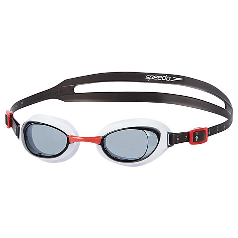 Buy Speedo Aquapure Swimming Goggles, Black/Red Online at johnlewis.com