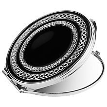 Buy Vera Wang for Wedgwood With Love Noir Compact Mirror, Silver/Black Online at johnlewis.com