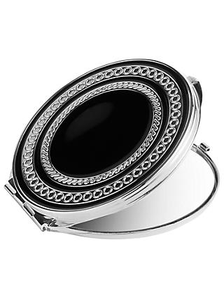 Vera Wang for Wedgwood With Love Noir Compact Mirror, Silver/Black