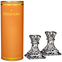 Buy Waterford Lismore Candlestick, Clear, Set Of 2 Online at johnlewis.com