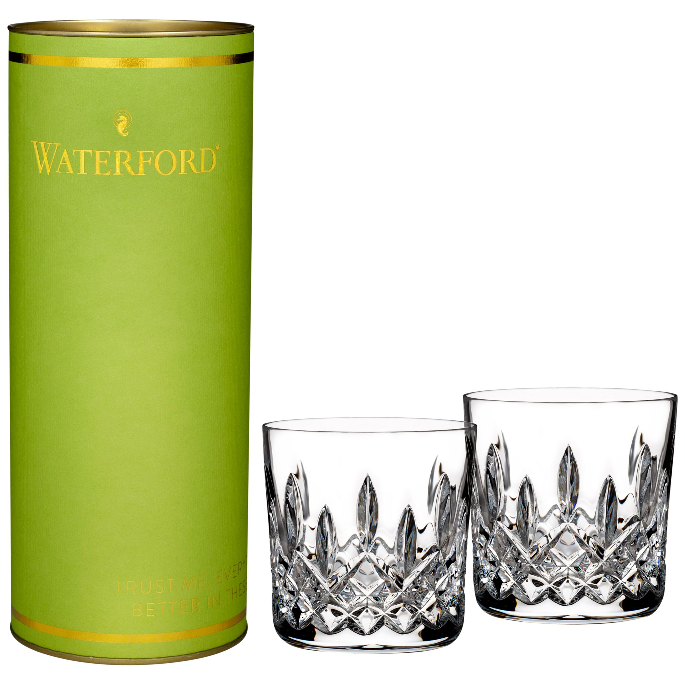 Waterford Waterford Giftology Lismore Tumbler, Clear, Set Of 2