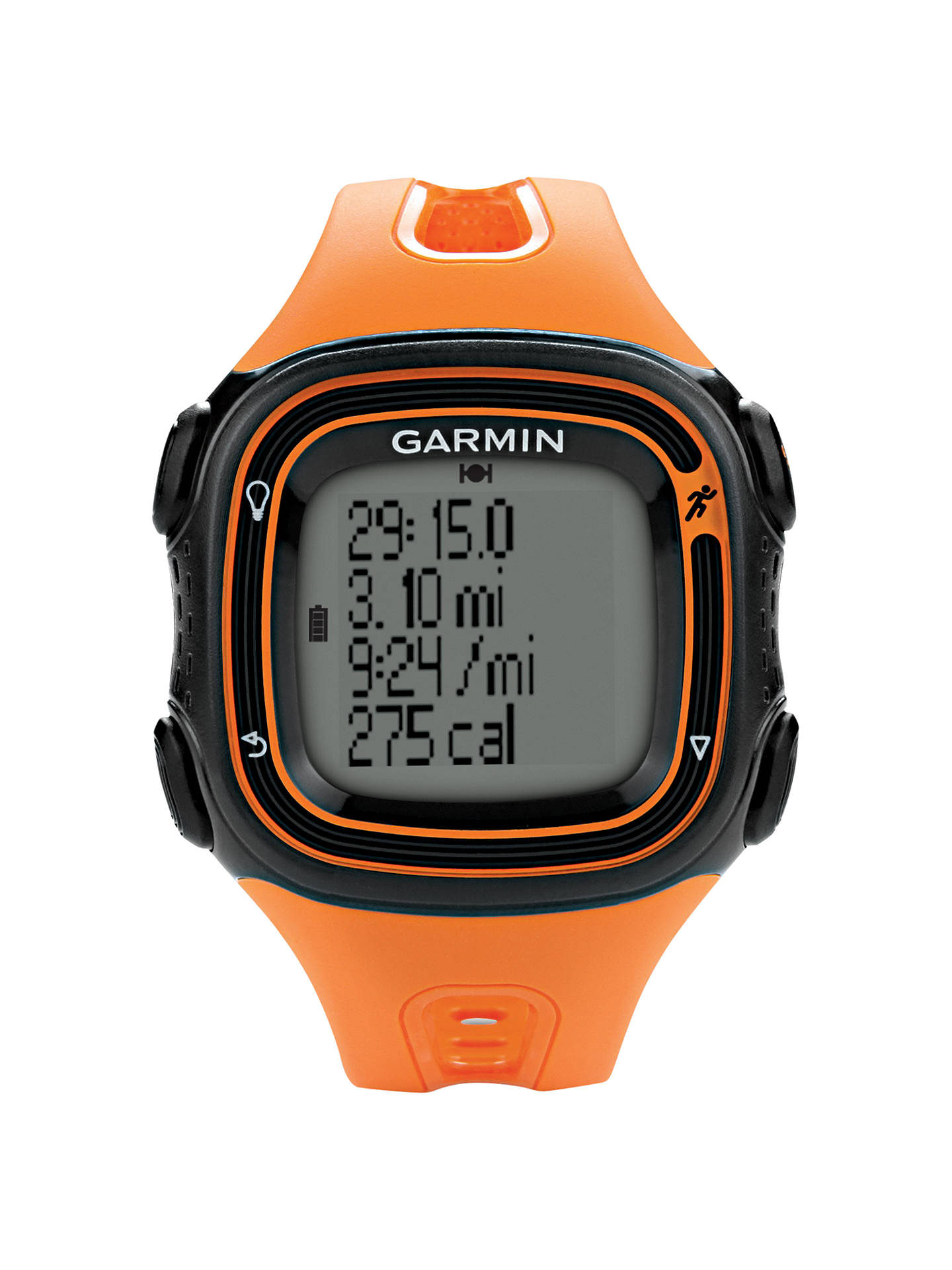 Garmin Forerunner 10 >> Garmin Forerunner 10 Gps Running Watch Orange At John Lewis